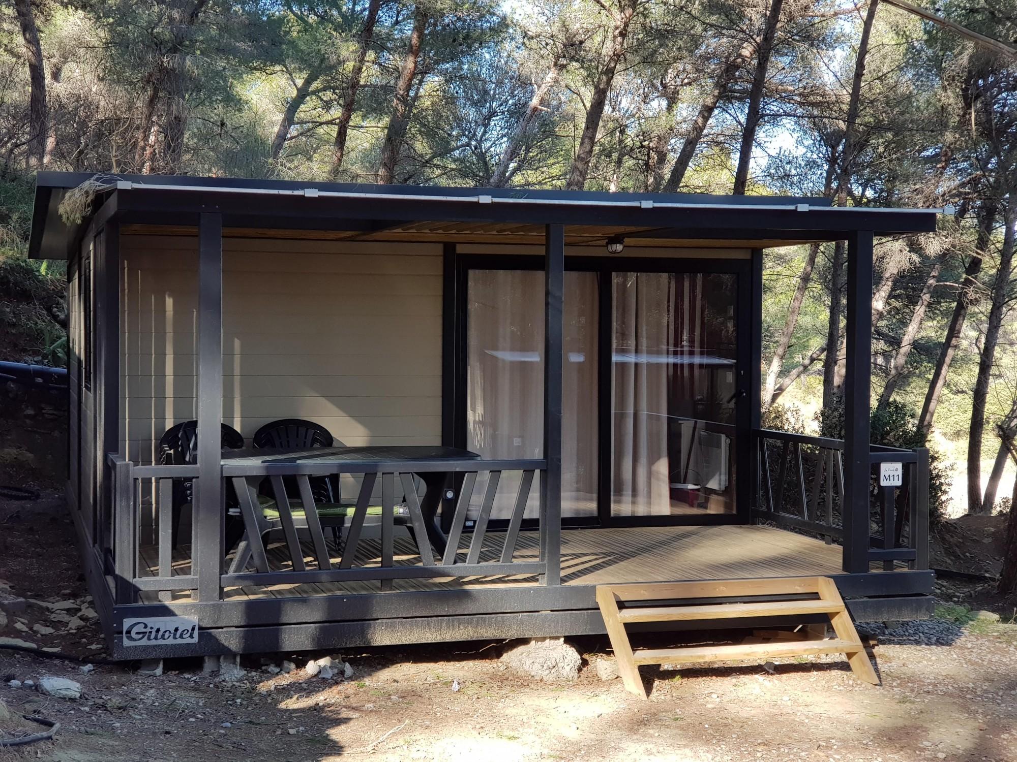 Location de chalet pour 4 5 personnes dans un camping 3 - Camping aix en provence avec piscine ...